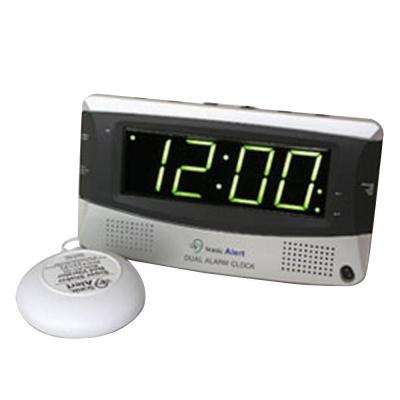 Dual Digital Alarm Clock with Bed Shaker