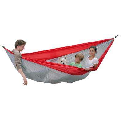 10 ft. 5 in. Parachute Nylon Double Hammock in Red