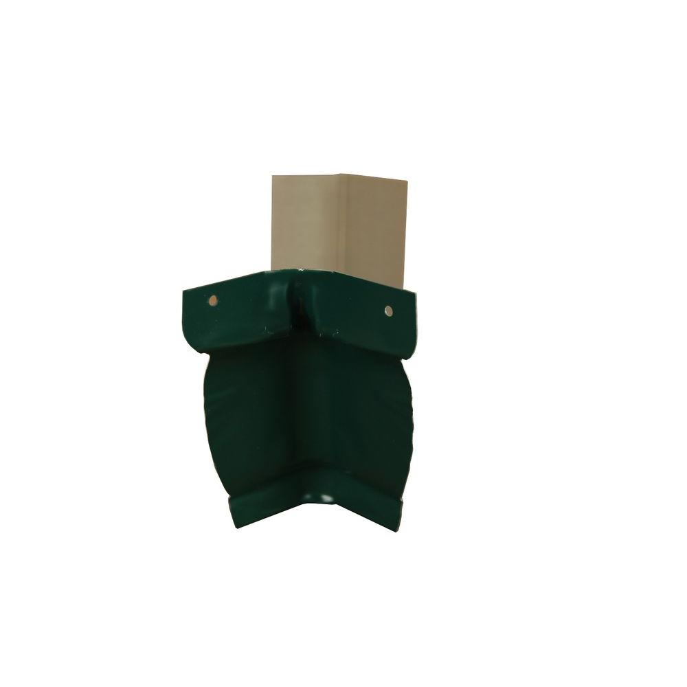 Amerimax Home Products 6 in. Grecian Green Aluminum Inside Strip Miter