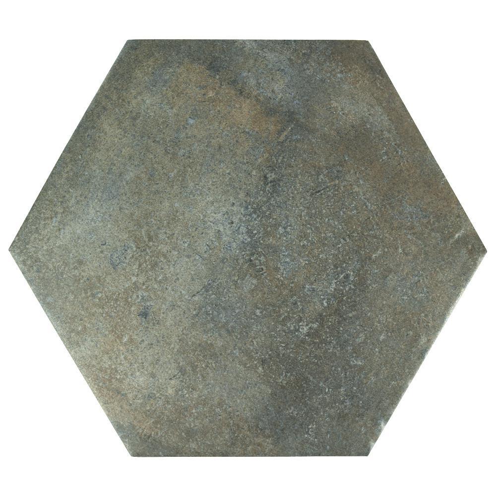 Merola Tile Boston Ferro Hex Ombra 14 1 8 In X 16