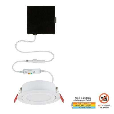 Slim Directional 4 in. Color Selectable Canless LED Recessed Kit