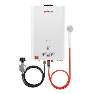 Camplux 16 l 4.22 GPM Residential Outdoor Liquid Propane Portable Gas Tankless Water Heater