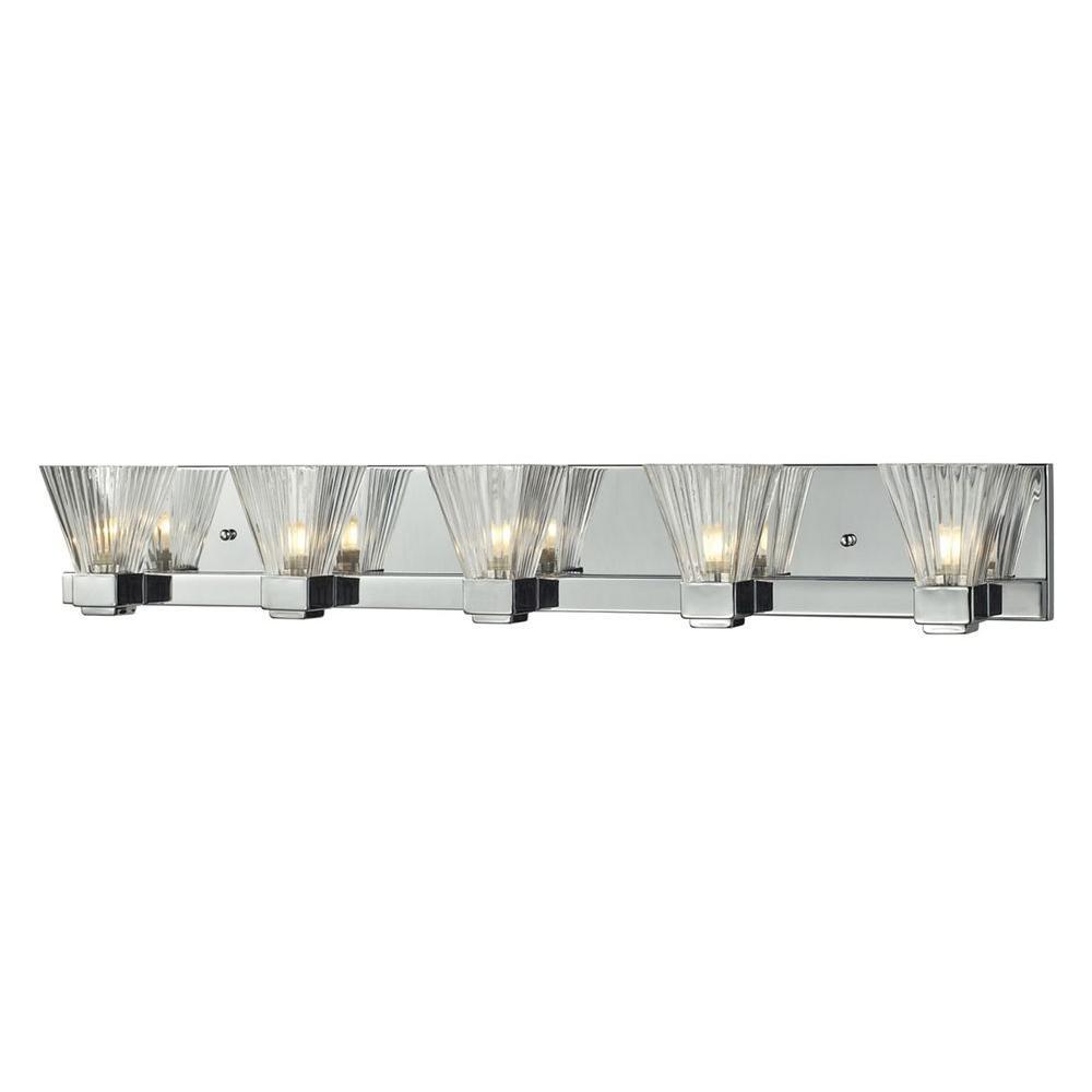 Filament Design Lawrence 5-Light Chrome Halogen Bath Vanity Light