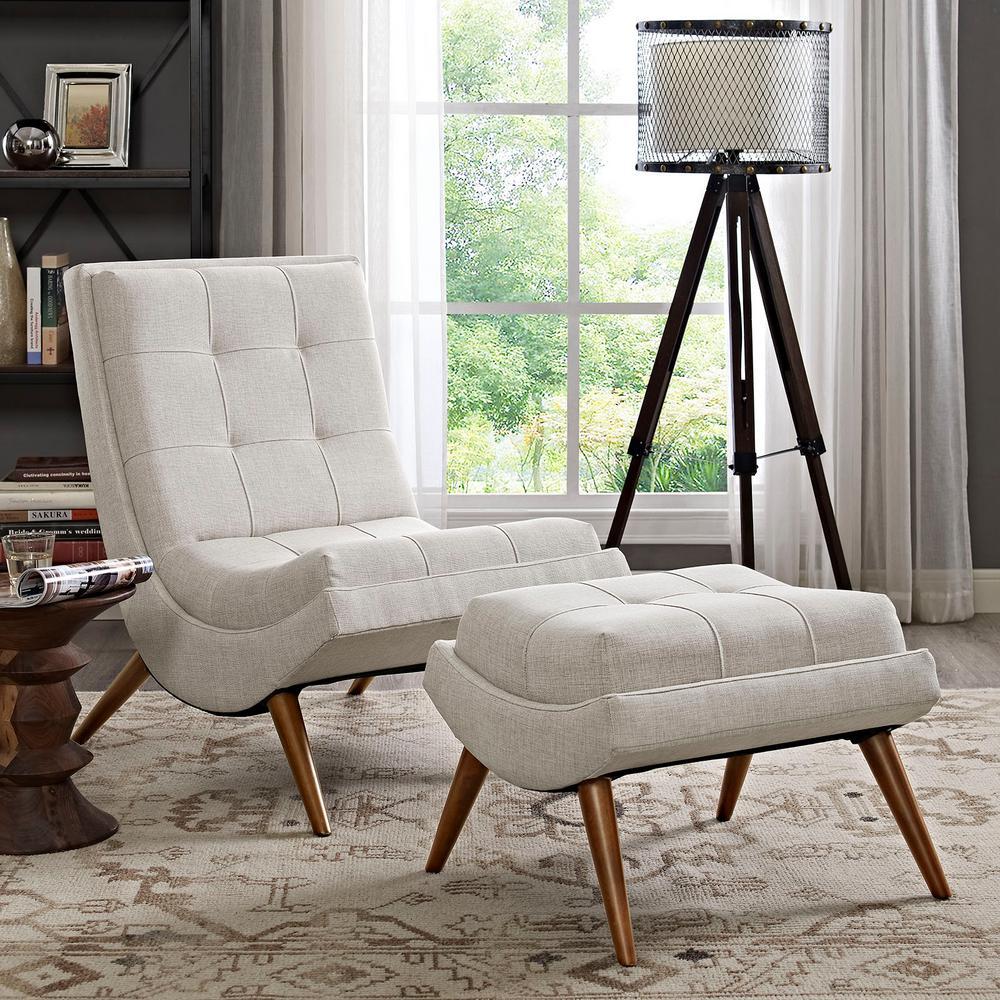 Ramp Sand Upholstered Fabric Lounge Chair Set