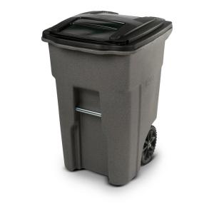 48 Gal Greystone Trash Can With Wheels And Attached Lid