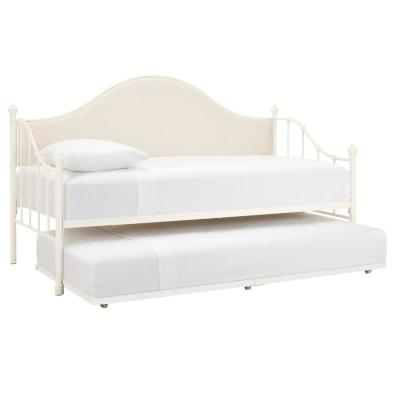 Kingsley Ivory Twin Daybed with Sides, Back and Deck (80 in W x 48 in H)