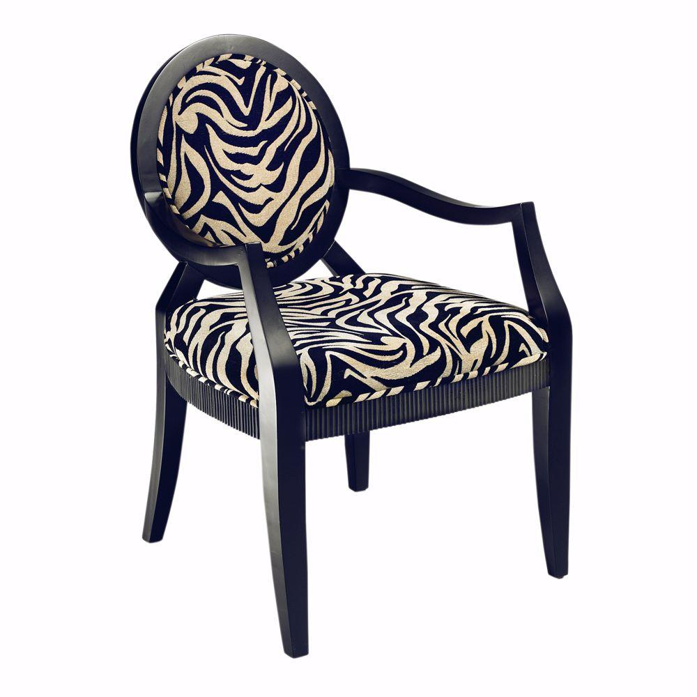 Home Decorators Collection Siena Black Zebra 24.5 in. W Chair