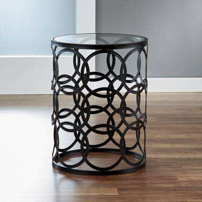 Oil-Rubbed Bronze Circles Side Table