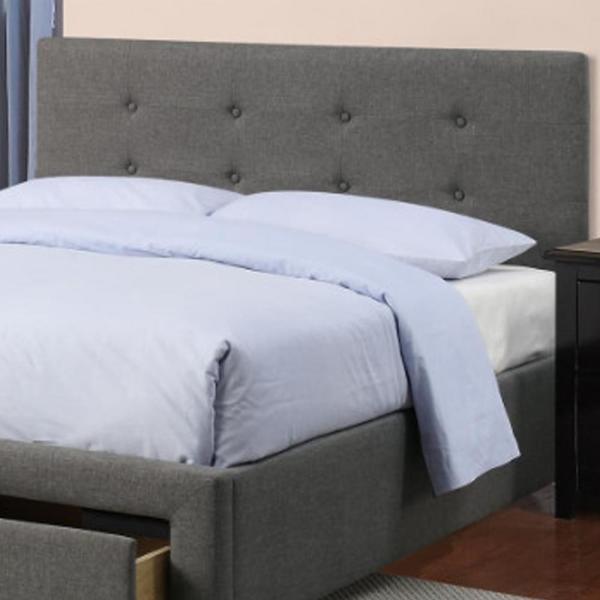 Gray Upholstered Wooden Queen Bed With, Queen Size Upholstered Bed With Storage