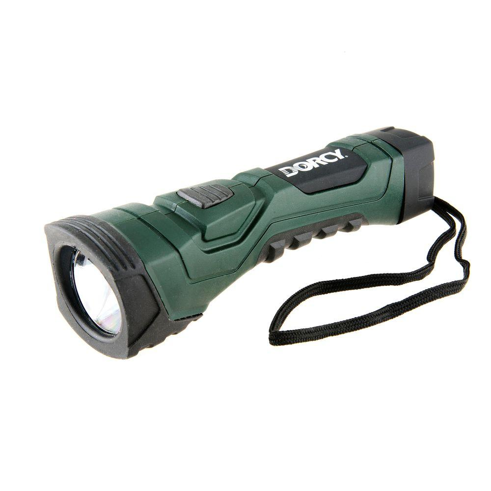 Dorcy Cyber Light Weather Resistant LED Flashlight with Nylon Lanyard and True Spot Reflector