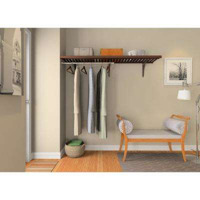 16 in. D x 72 in.W x 84 in. H Espresso Ventilated Wood Wall Mount Entry Closet Kit