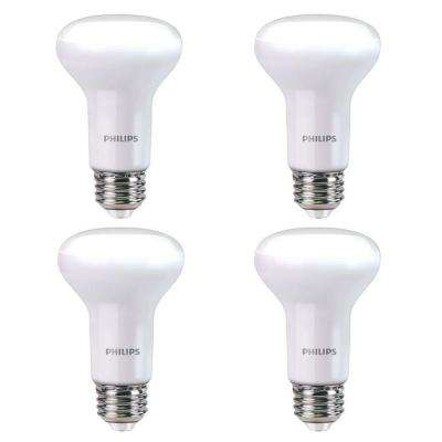 45-Watt Equivalent R20 Dimmable LED Light Bulb Soft White with Warm Glow Light Effect (E) (4-Pack)