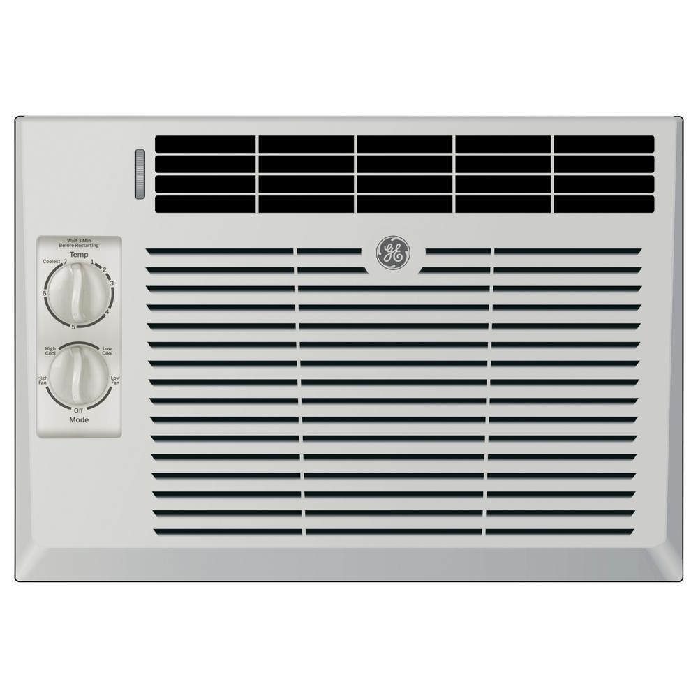 GE 5000 BTU 115-Volt Window Air Conditioner in Gray