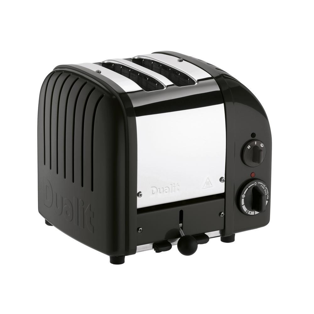 NewGen 2-Slice Matt Black toaster