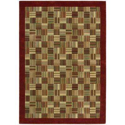 Parallels Brick 7 ft. 9 in. x 10 ft. 10 in. Area Rug