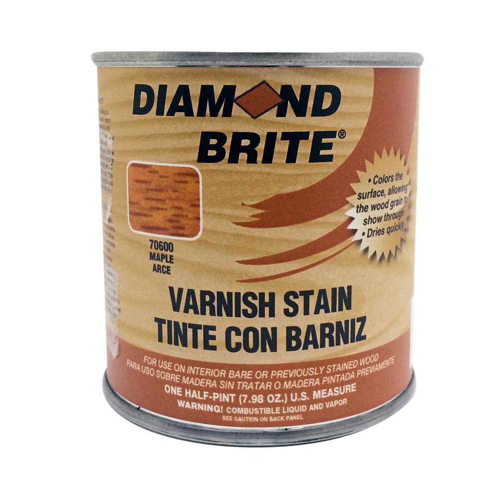 Diamond Brite Paint 1/2 pt. Maple Oil-Based Interior Varnish Stain