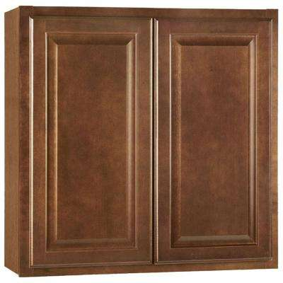 Hampton Assembled 30x30x12 in. Wall Kitchen Cabinet in Cognac