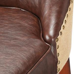 Super Home Decorators Collection Rebecca 39 In Brown Cushioned Beatyapartments Chair Design Images Beatyapartmentscom