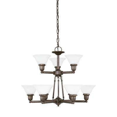 Sussex 9-Light Heirloom Bronze Chandelier with LED Bulbs