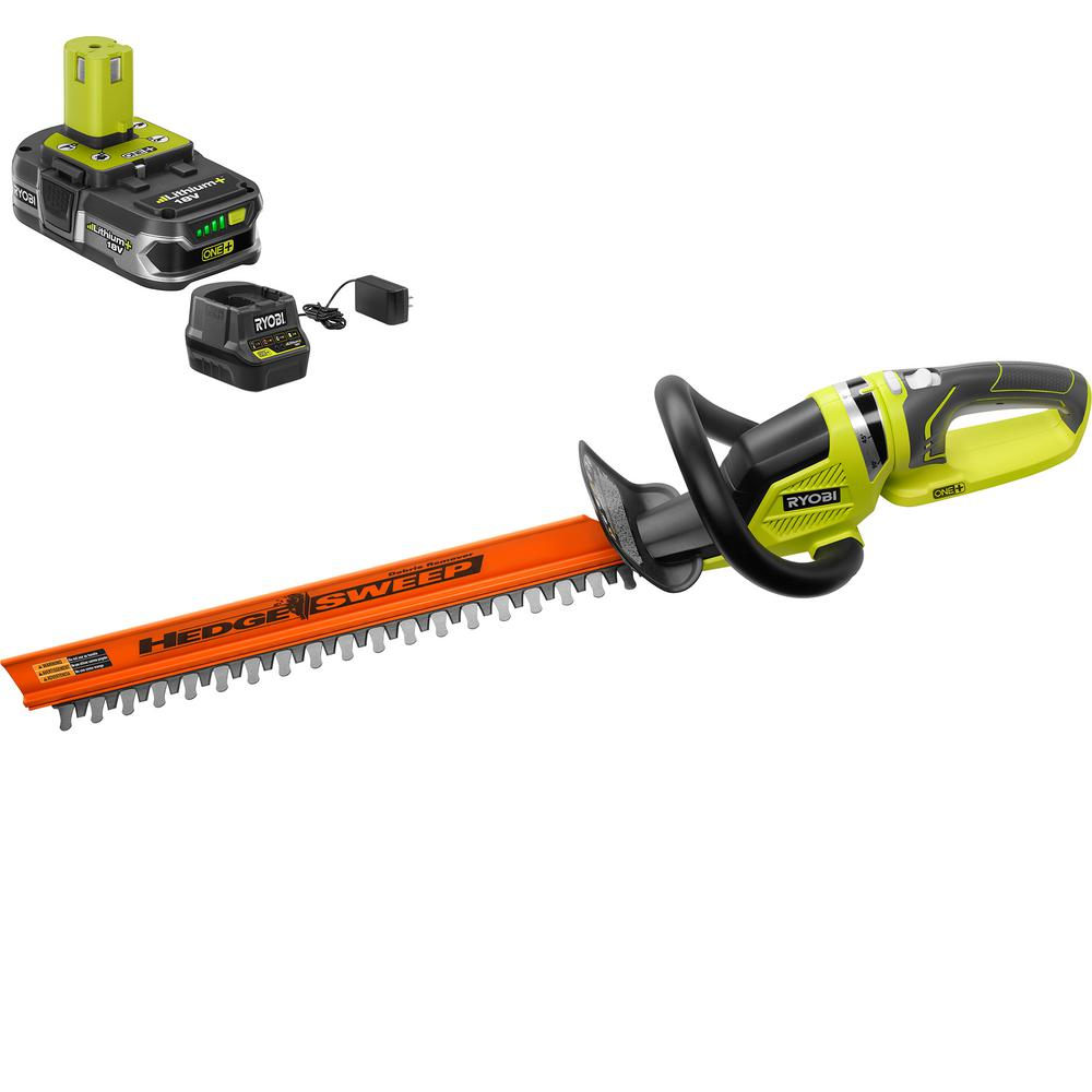 ONE+ Lithium+ 22 in. 18-Volt Lithium-Ion Cordless Hedge Trimmer - 1.5 Ah Battery and Charger Included