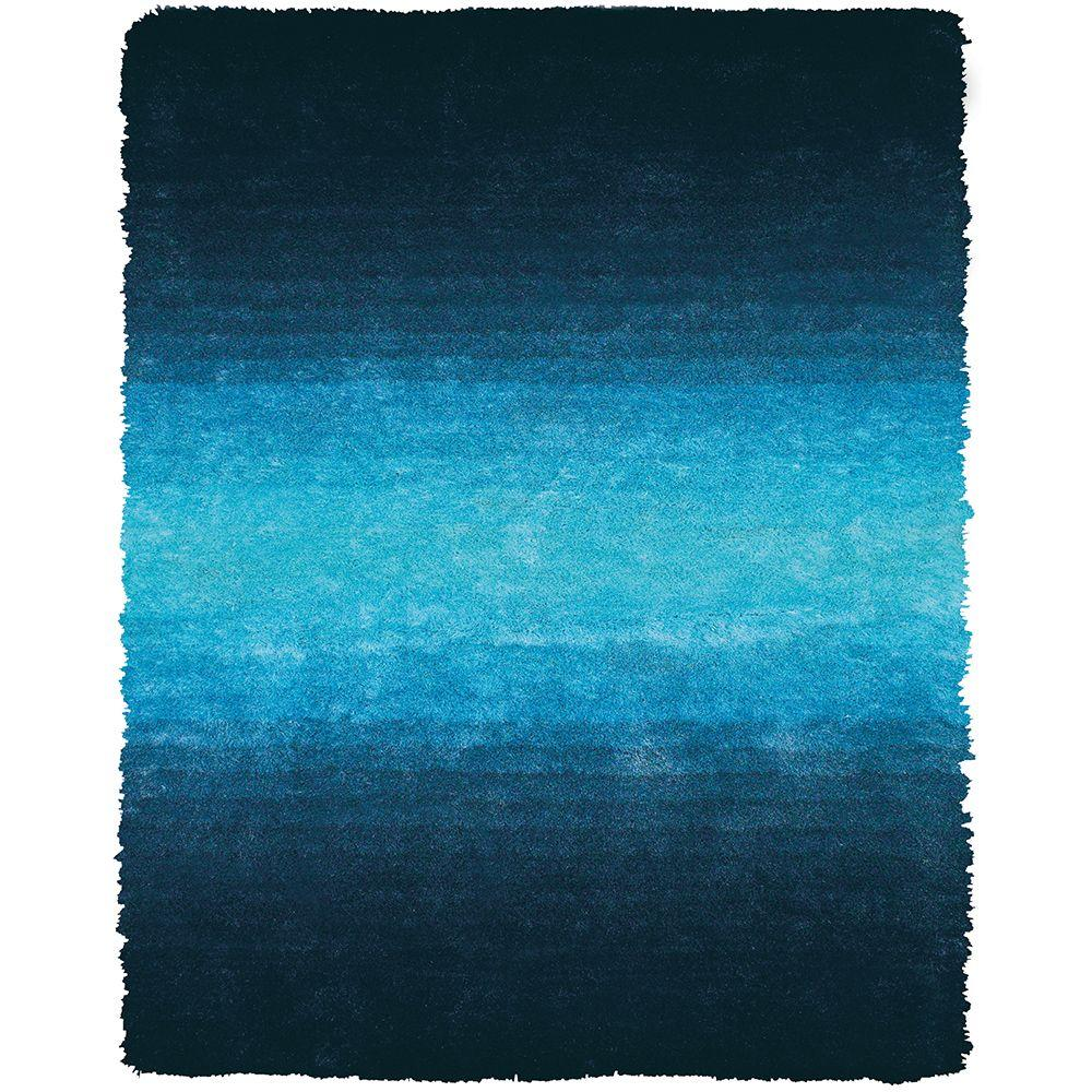 Feizy Indochine Blue 3 ft. 6 in. x 5 ft. 6 in. Indoor Area Rug