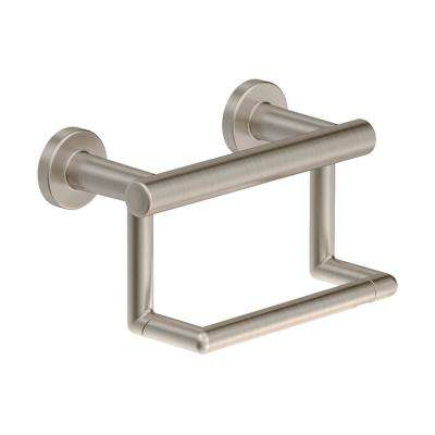Dia Wall-Mounted Toilet Paper Holder in Satin Nickel