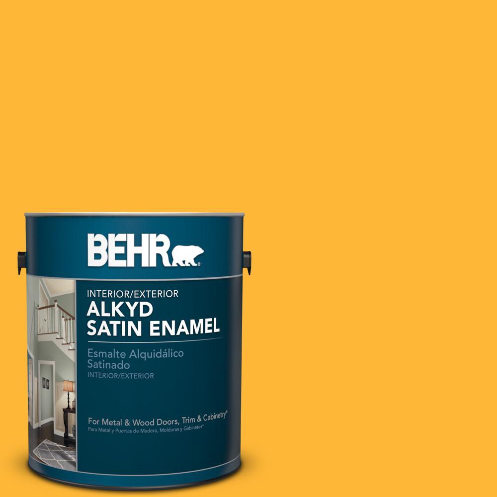 1 gal. #P270-6 Soft Boiled Satin Enamel Alkyd Interior/Exterior Paint