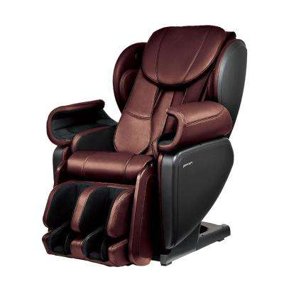 Wine Contemporary Synthetic Leather Premium 4D Japanese Designed Massage Chair