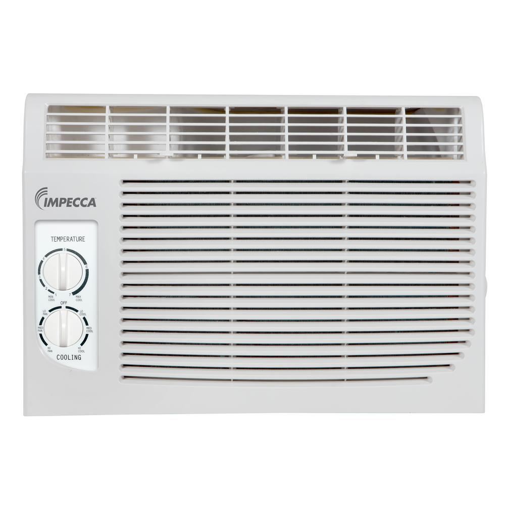 Impecca 5 000 btu 115 volt mechanical controlled mini for 15 width window air conditioner