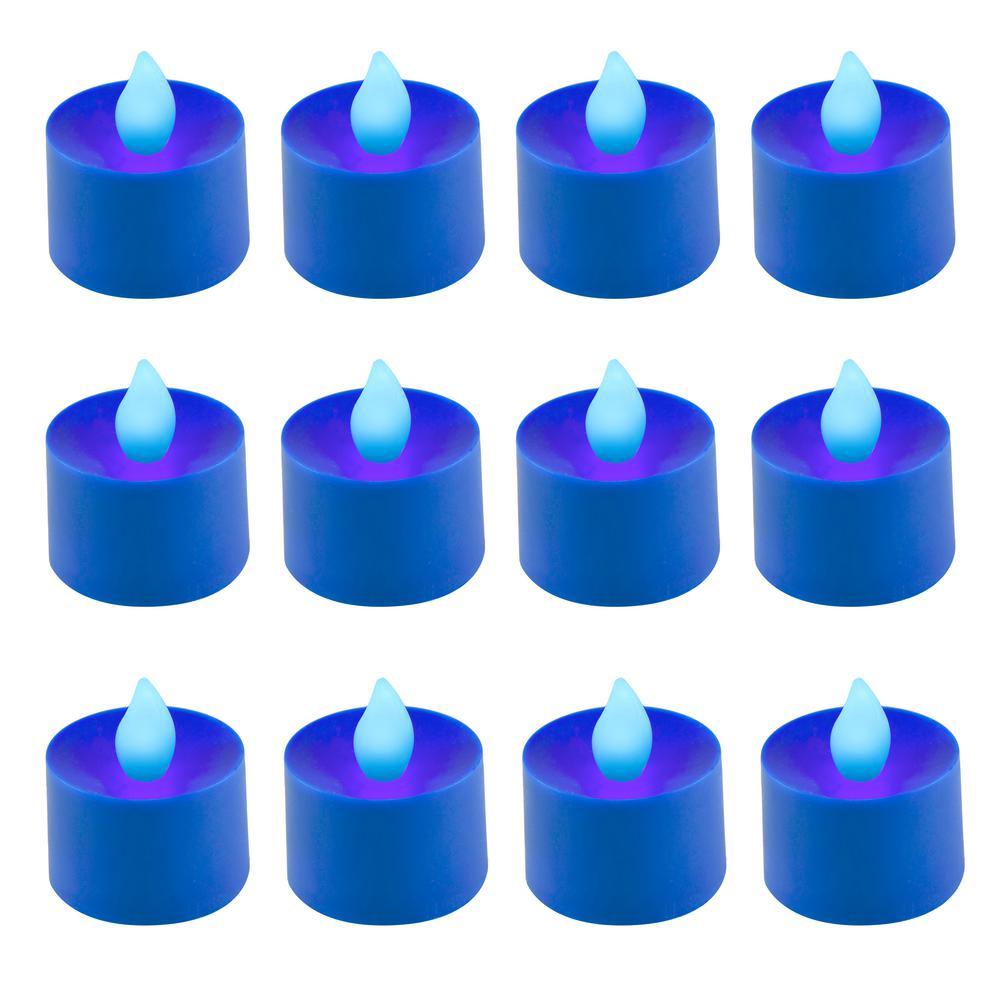 Blue LED Tealights (Box of 12)