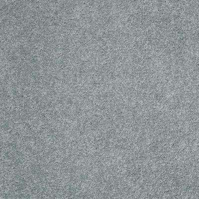Carpet Sample - Coral Reef I - Color Crystal Sea Texture 8 in. x 8 in.