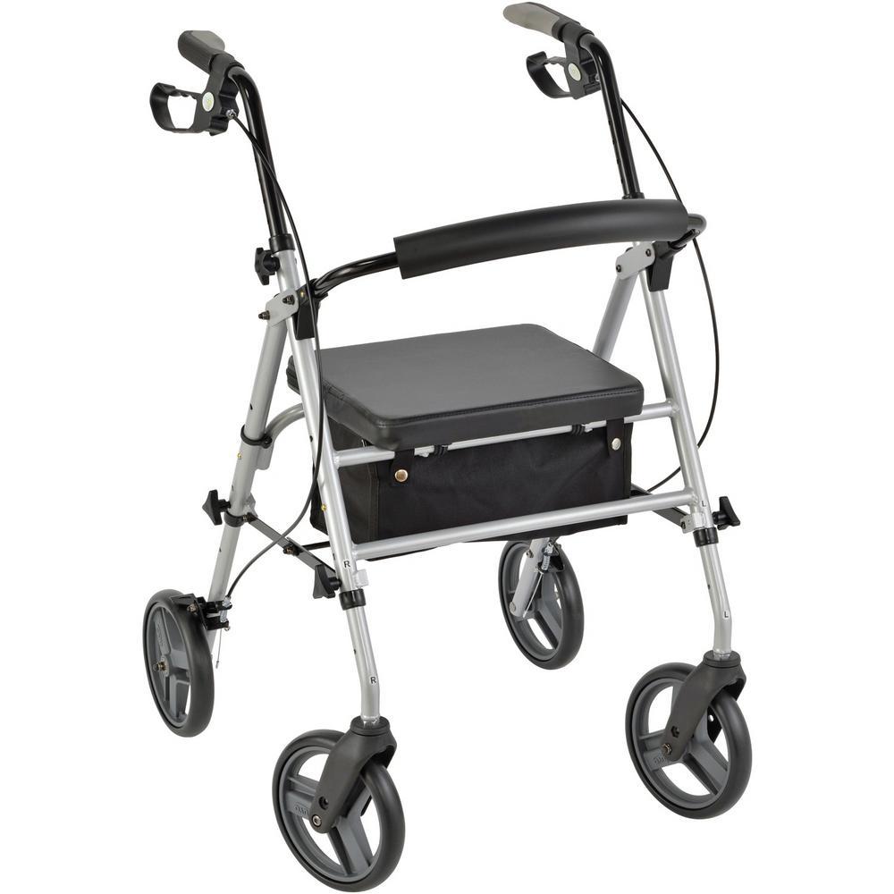 4-Wheel Personal Rollator Deluxe Model