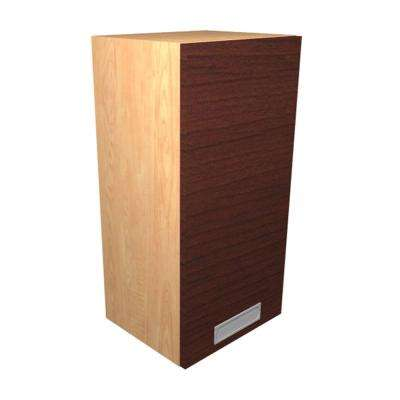 Genoa Ready to Assemble 18 x 38 x 12 in. Wall Cabinet with 1 Soft Close Doors in Cherry