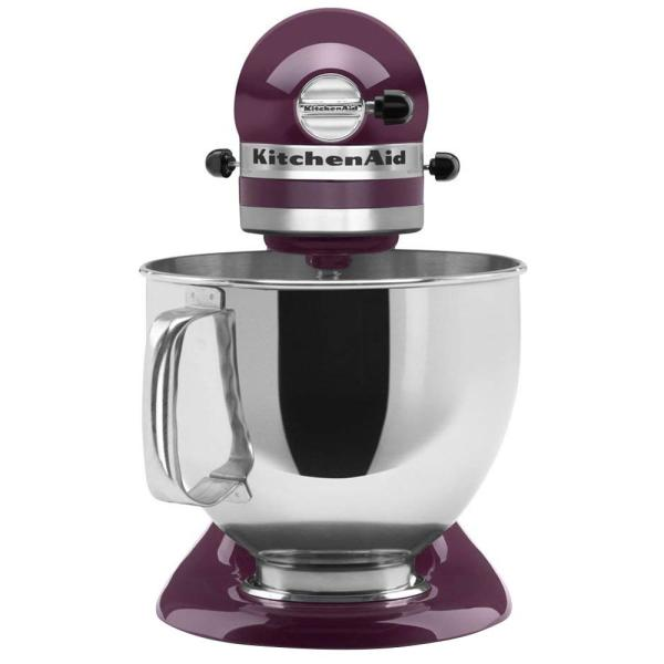 KitchenAid Artisan 5 Qt. 10-Speed Boysenberry Stand Mixer with Flat Beater,