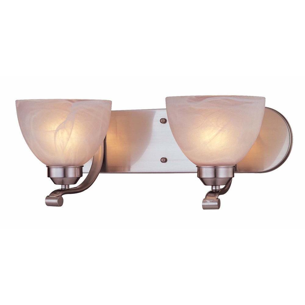 Minka Lavery Paradox 2-Light Brushed Nickel Bath Light
