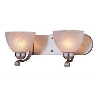 Paradox 2-Light Brushed Nickel Bath Light