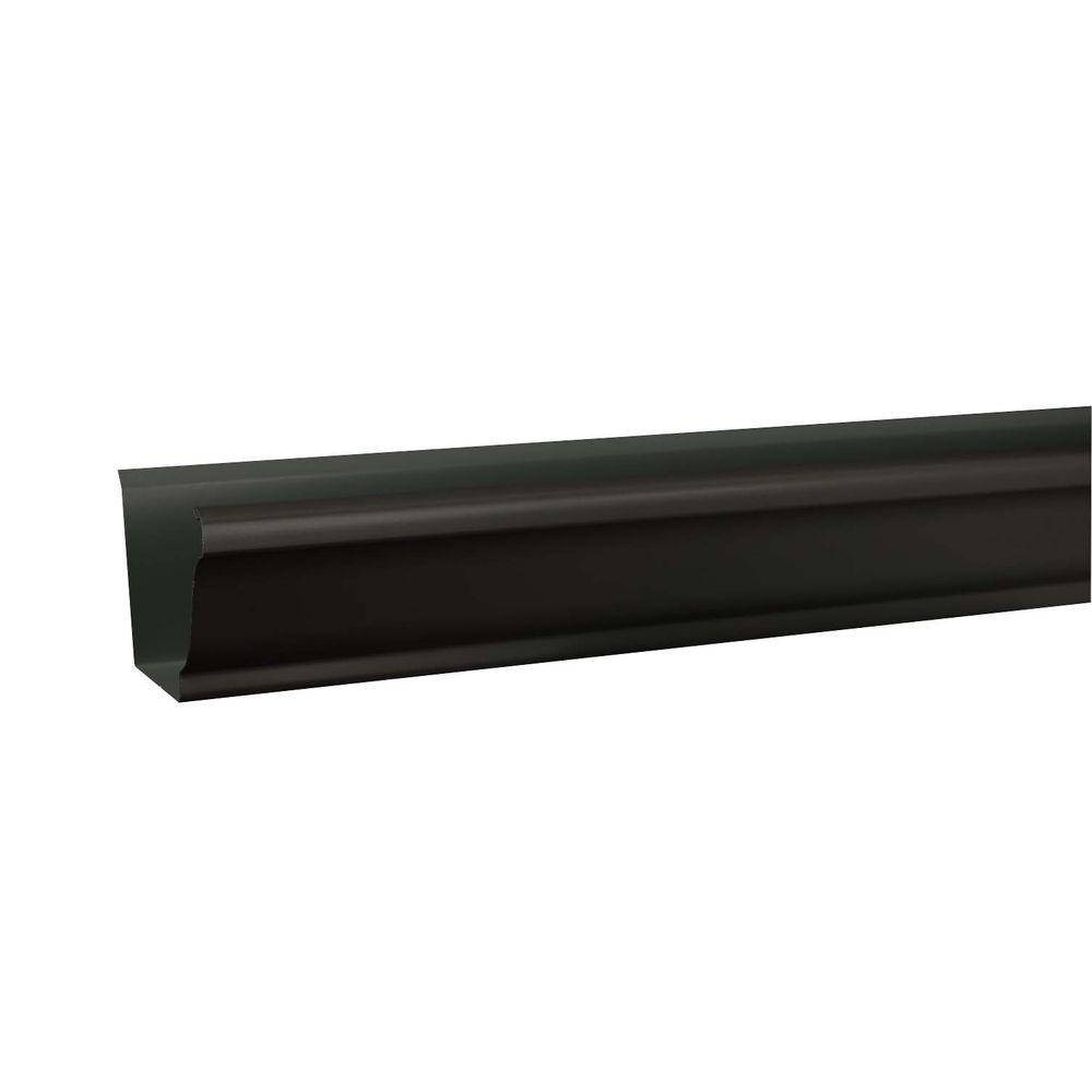 Amerimax Home Products 6 in. x 10 ft. K-Style Tuxedo Gray Aluminum Gutter