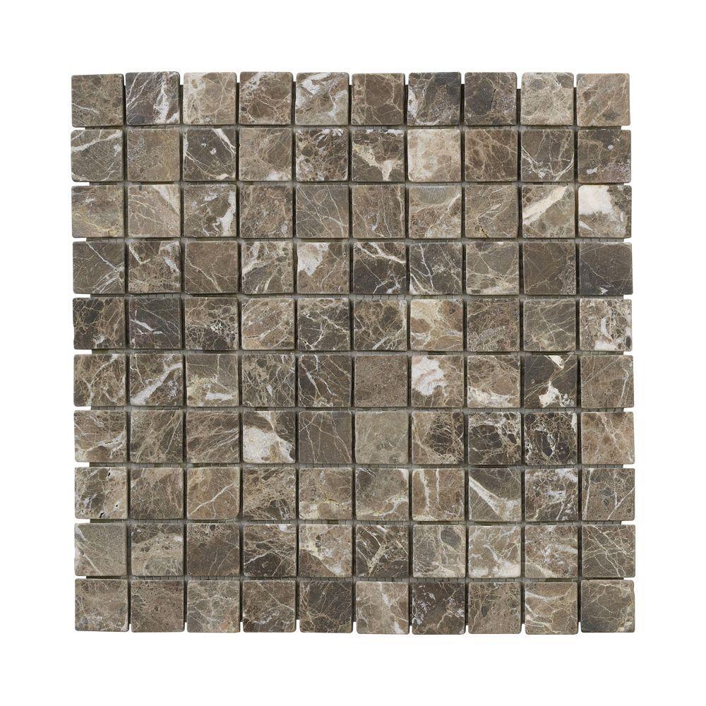 Jeffrey Court Emperador 11 875 In X 9 Mm Marble Mosaic Floor