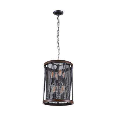 Parsh 8-Light Pewter Chandelier