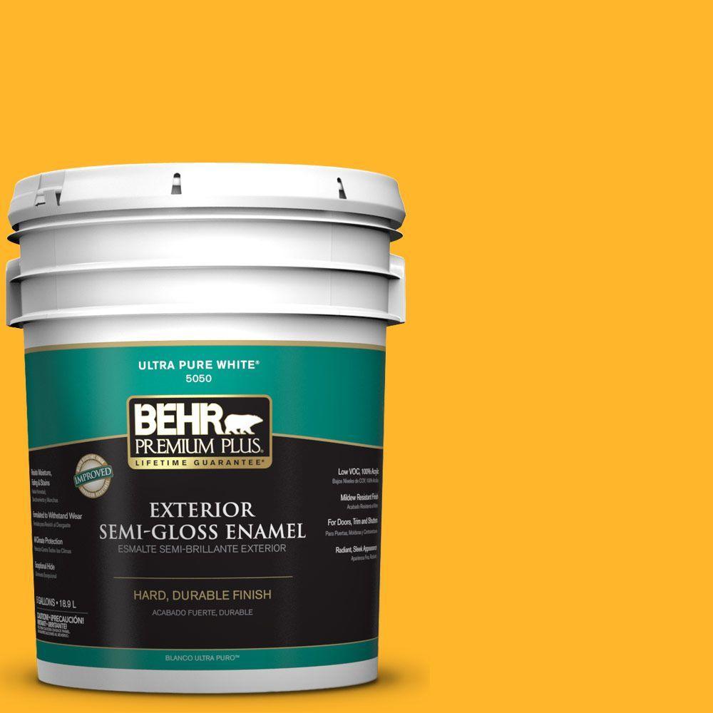 5-gal. #P260-7 Extreme Yellow Semi-Gloss Enamel Exterior Paint