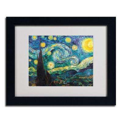 16 in. x 20 in. Starry Night Black Framed Matted Art