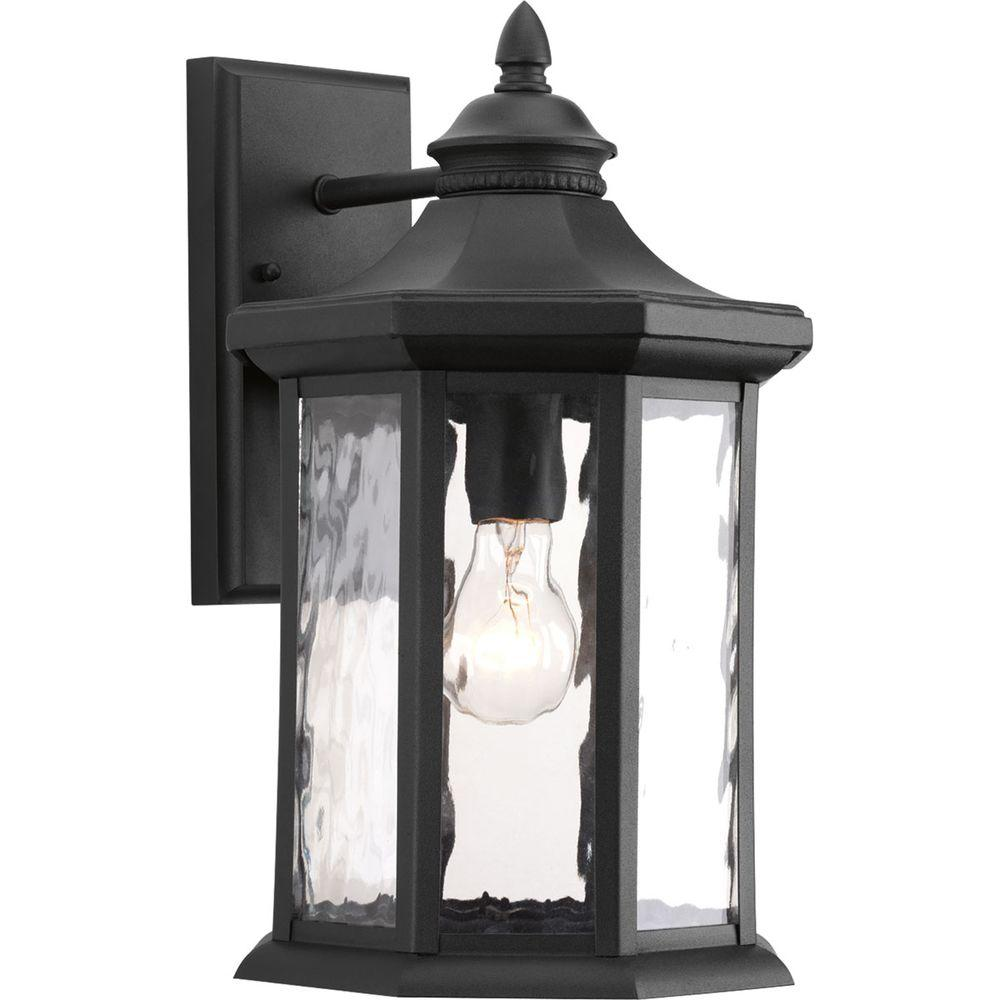 Edition Collection 1-Light 9 Inch Black Outdoor Wall Lantern