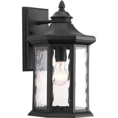 Edition Collection 1-Light Large Black Outdoor Wall Lantern