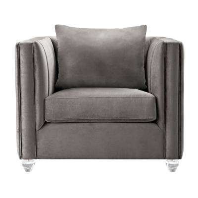 Emperor Contemporary Beige Fabric Upholstered Accent Chair