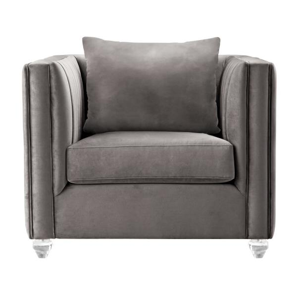 Armen Living Emperor Contemporary Beige Fabric Upholstered Accent Chair LCEP1BG