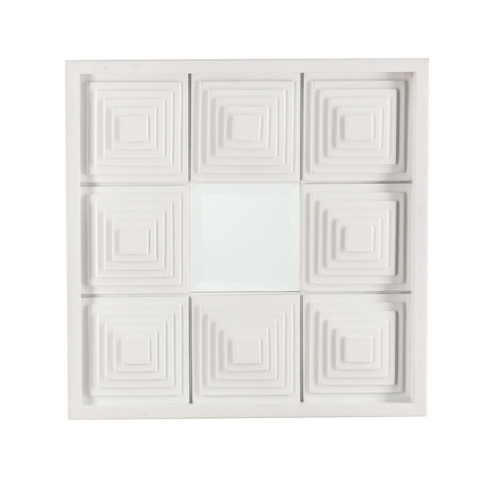 Southern Enterprises 17 in. x 17 in. Square Keaton Decorative Framed Mirror