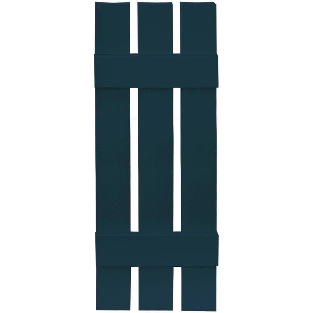 12 in. x 35 in. Board-N-Batten Shutters Pair, 3 Boards Spaced