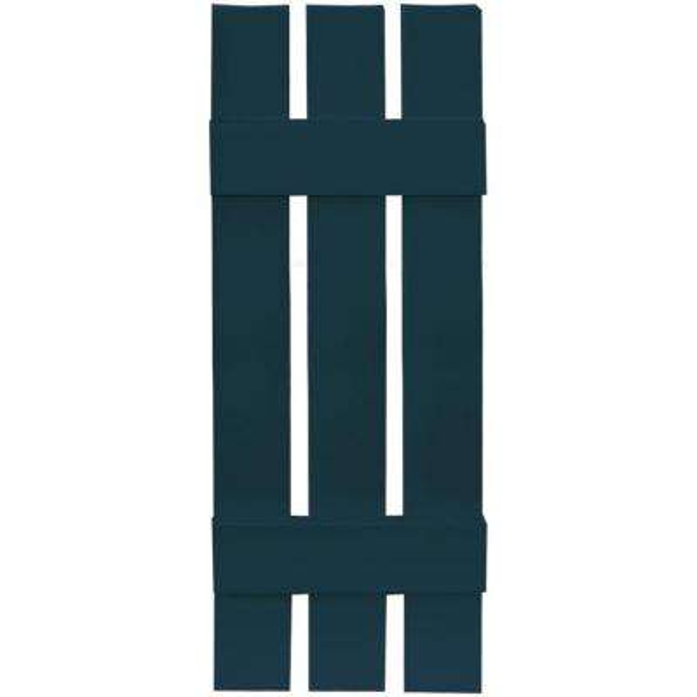 12 in. x 35 in. Board-N-Batten Shutters Pair, 3 Boards Spaced #166 Midnight Blue