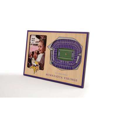 NFL Minnesota Vikings Team Colored 3D StadiumView with 4 in. x 6 in. Picture Frame