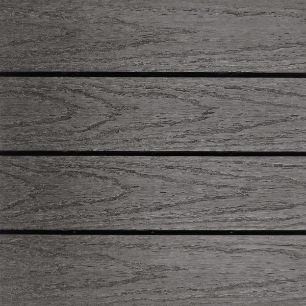 UltraShield Naturale 1 ft. x 1 ft. Quick Deck Outdoor Composite Deck Tile in Argentinian Silver Gray (10 sq. ft. Per Bx)